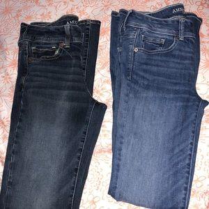 "Bundle of 2 ""Kick Boot"" American Eagle Jeans"